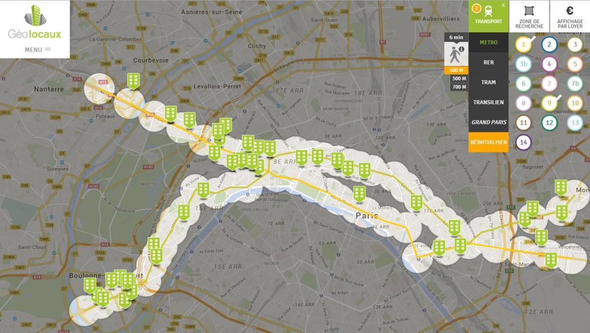 Nexity Conseil et transaction Geolocaux location bureaux vente paris métro
