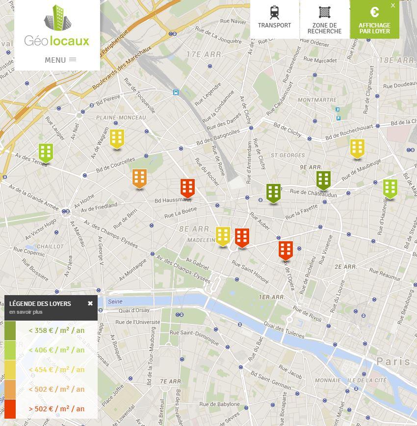 Annonces géolocalisée location bureaux paris Paris Business Office PBO Geolocaux