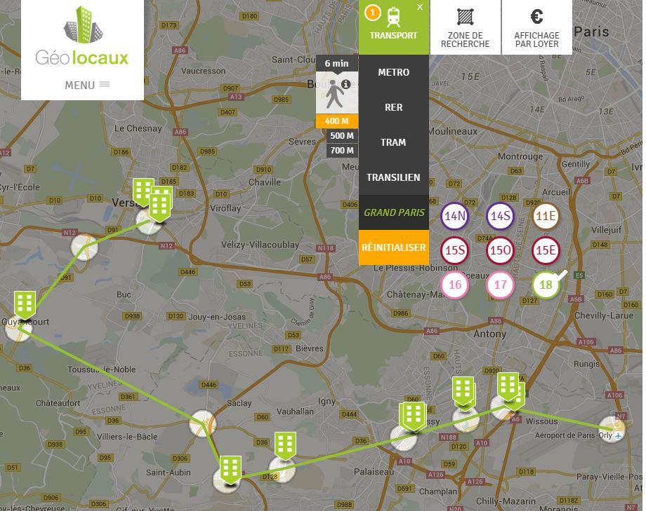 Ligne 18 Grand Paris location bureaux geolocaux fimm