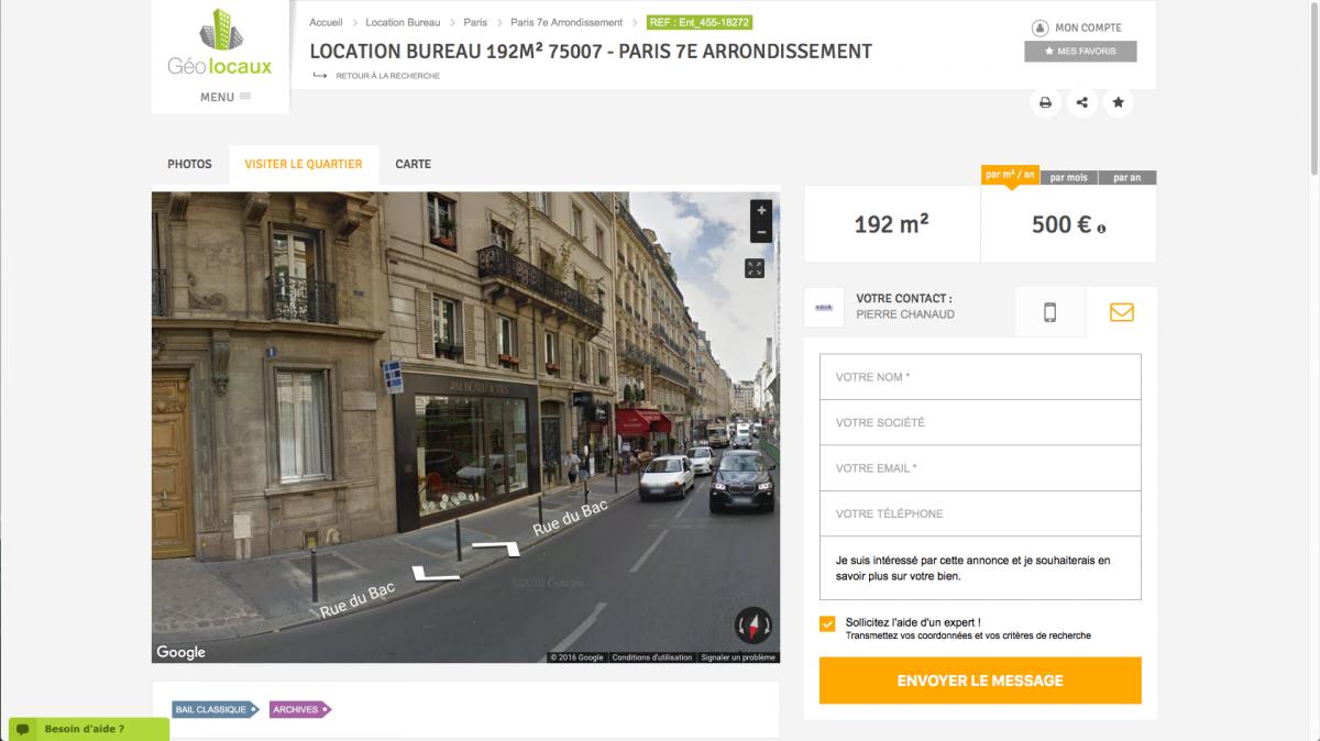geolocaux agir annonces location vente bureaux paris immobilier d'entreprise