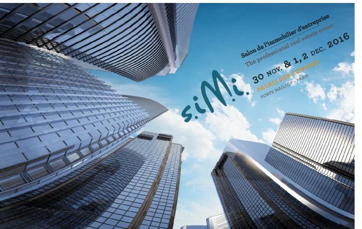 SIMI 2016 Geolocaux salon de l'immobilier d'entreprise Paris