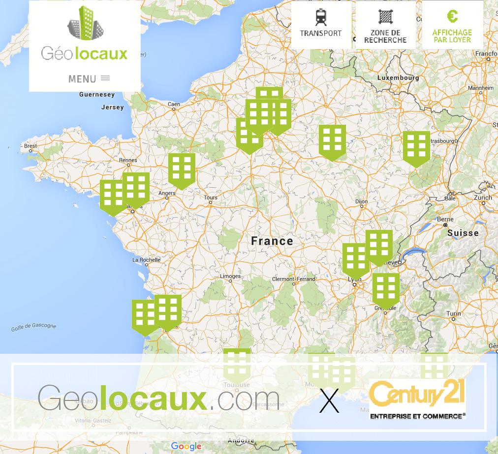 Century 21 Entreprise & Commerce et Geolocaux.com