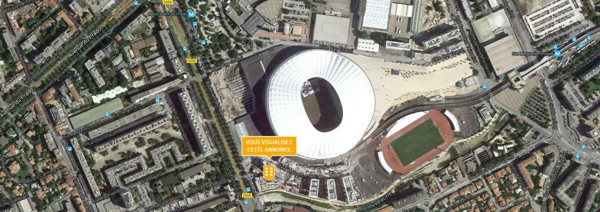 location bureaux Stade Vélodrome Marseille