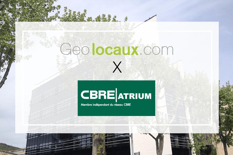 Atrium CBRE : nouveau partenaire de Geolocaux
