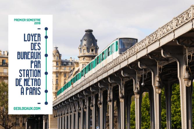 Loyers de bureaux selon les stations de métro à Paris - S1 2016