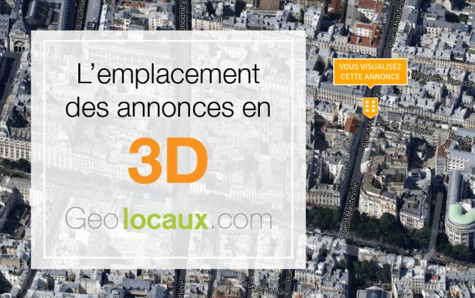 geolocaux visualisation 3D annonces
