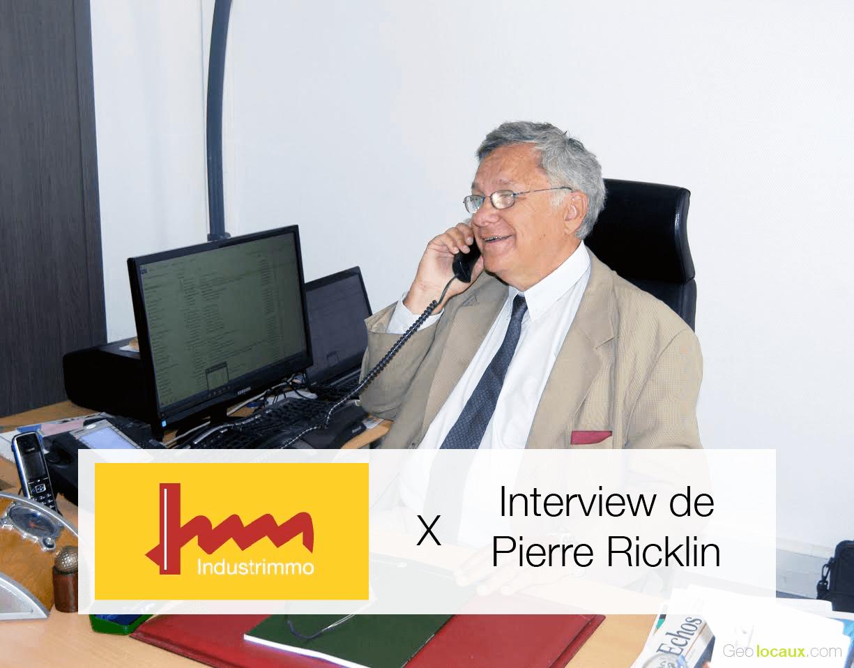 Interview de Pierre Ricklin, Président d'INDUSTRIMMO