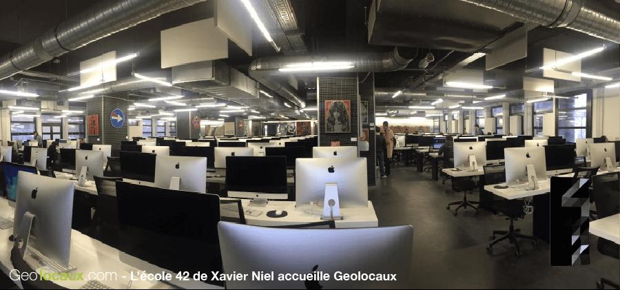 L'Ecole 42 de Xavier Niel accueille Geolocaux
