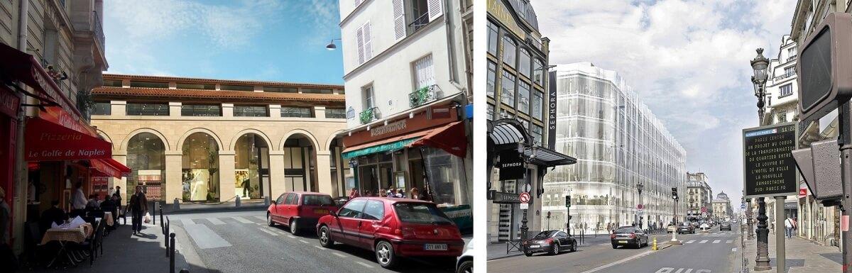 Commerces dans des bâtiments historiques perspective Marché Saint Germain Samaritaine