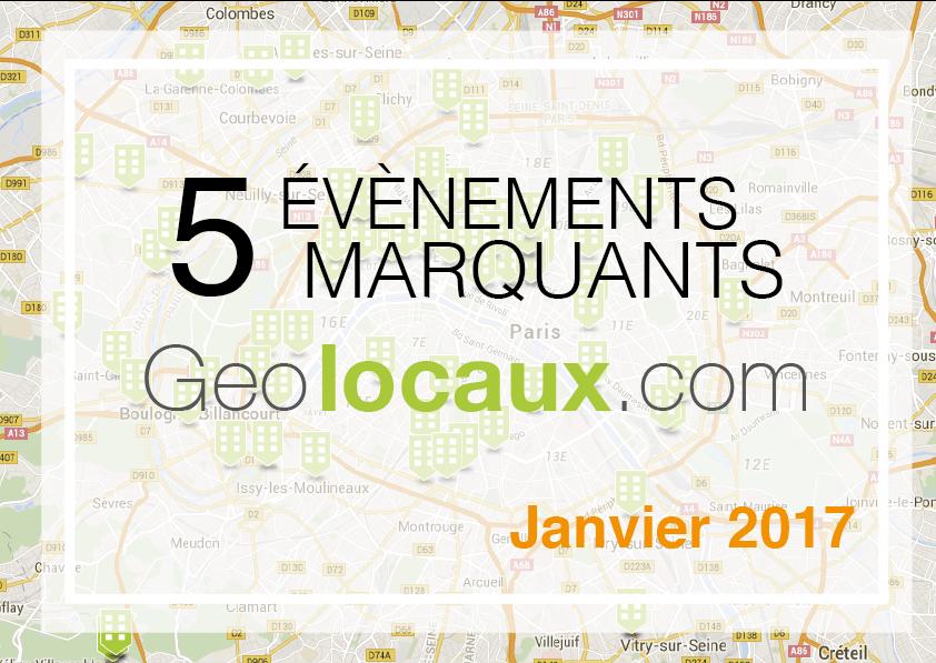 Janvier 2017 : 5 évènements marquants pour Geolocaux