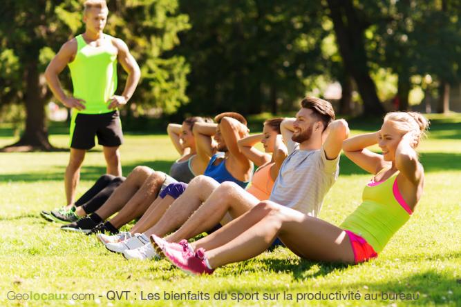 qvt Les bienfaits du sport sur la productivité au bureau