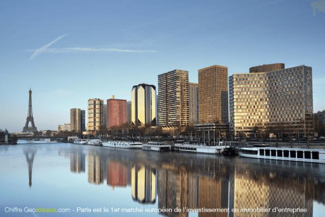Chiffre Geolocaux : Paris 1er marche de l'investissement en immobilier d'entreprise