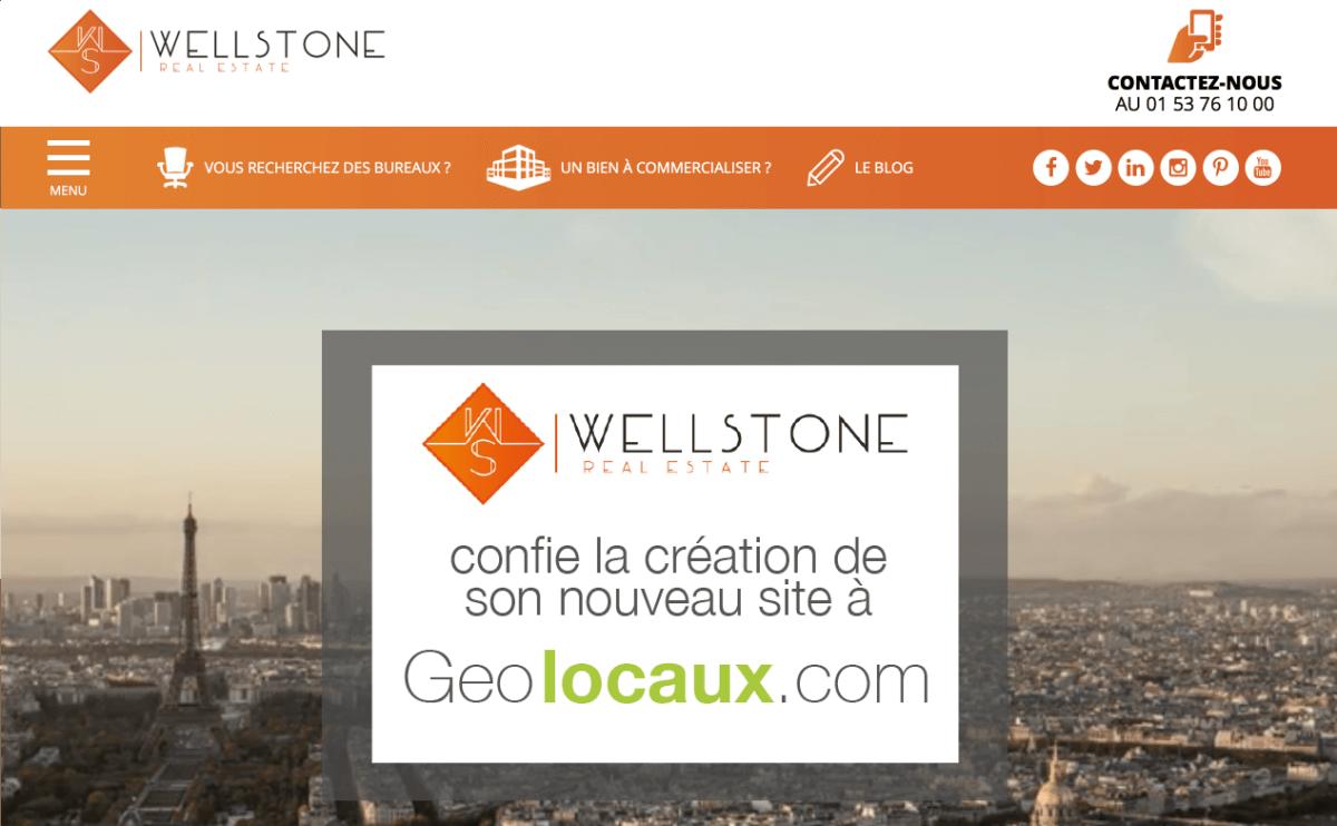 Wellstone confie la création de son site à Geolocaux