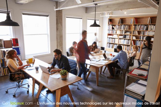 Influence nouvelles technologies nouveaux modes travail