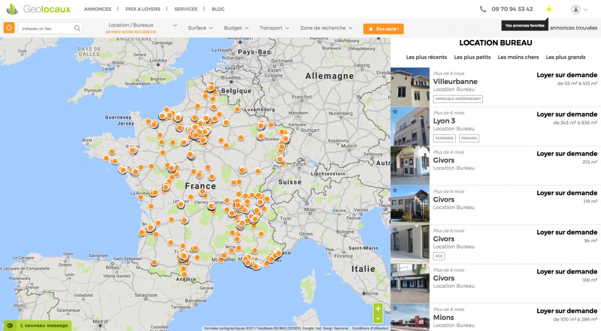 Geolocaux.com lance la nouvelle version de son site