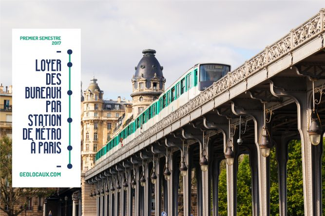 Infographie des loyers de bureaux à Paris par métro au 1er semestre 2017