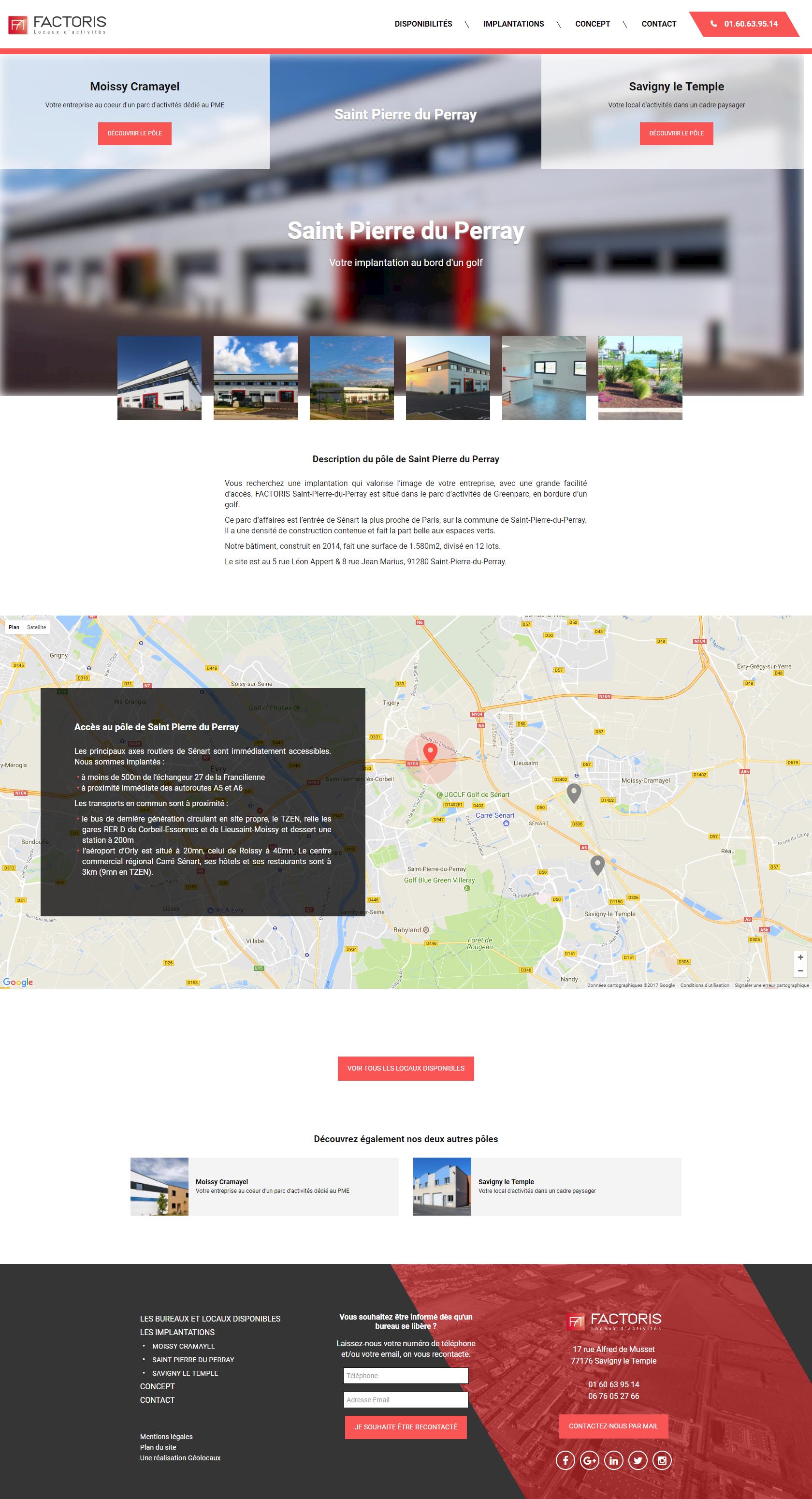 Factoris nouveau site web