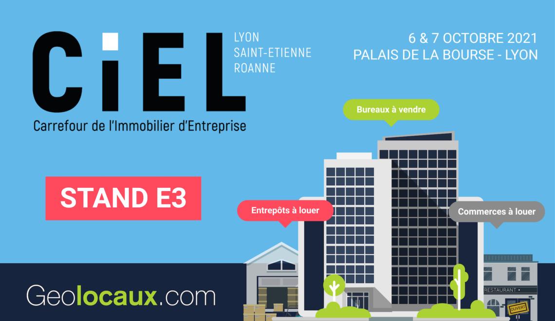 CIEL 2021 : retrouvez Geolocaux.com au stand E3 !